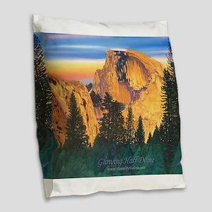 Glowing Half Dome Burlap Throw Pillow