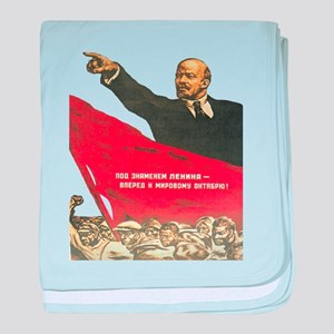 Vladimir Lenin soviet propaganda baby blanket
