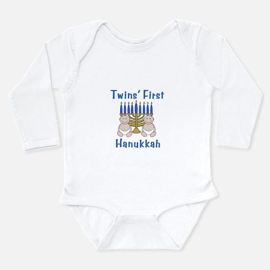 Twins' First Hanukkah Body Suit