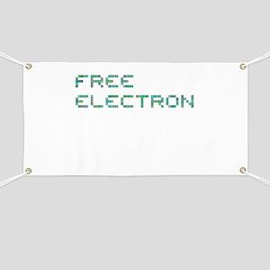 Free Electron (Pixels) (Green) Banner
