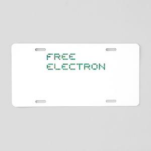 Free Electron (Pixels) (Gre Aluminum License Plate
