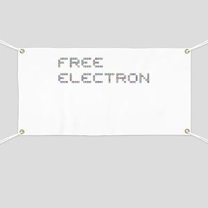 Free Electron (Pixels) (Gray) Banner