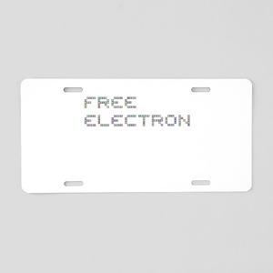 Free Electron (Pixels) (Gra Aluminum License Plate