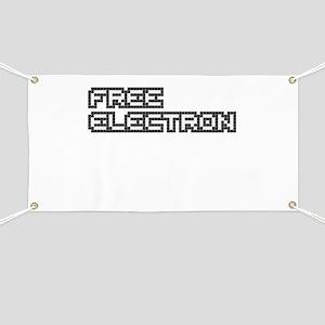 Free Electron (Pixels) (Black & White) Banner