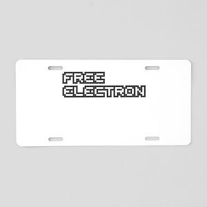 Free Electron (Pixels) (Bla Aluminum License Plate