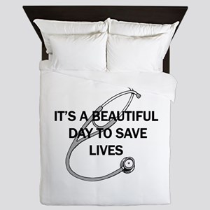 Saving Lives Queen Duvet