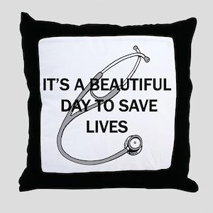 Saving Lives Throw Pillow