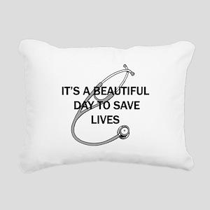 Saving Lives Rectangular Canvas Pillow