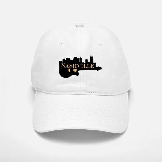 Nashville Guitar Skyline Baseball Baseball Cap