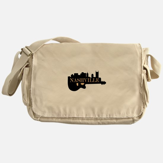 Nashville Guitar Skyline Messenger Bag