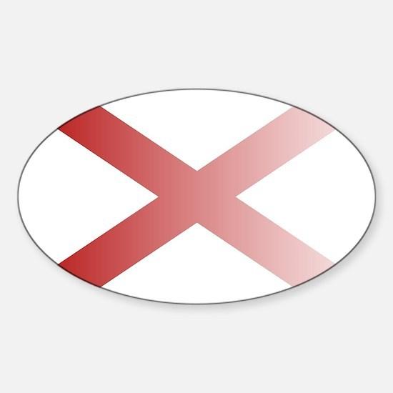 Alabama State Flag Fade Background Decal