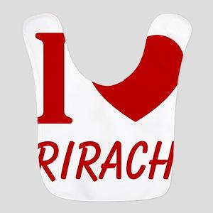 I Heart Sriracha Polyester Baby Bib