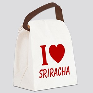 I Heart Sriracha Canvas Lunch Bag