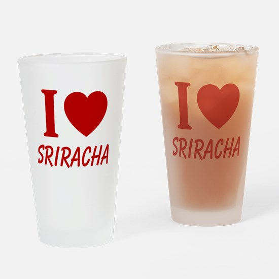 I Heart Sriracha Drinking Glass