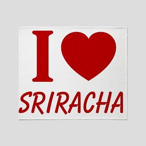 I Heart Sriracha Throw Blanket