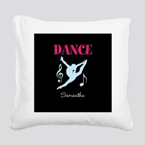 Dance personalized Square Canvas Pillow