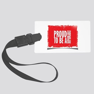 Proud Deplorable Large Luggage Tag