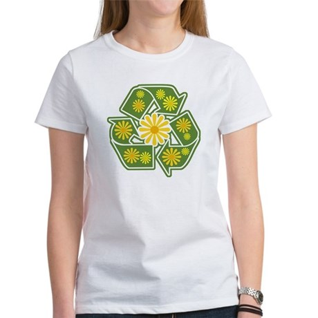 Floral Recycle Sign Women's T-Shirt