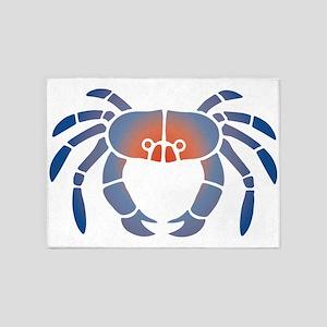 Blue Crab Stencil Art in Coastal Colors 5'x7'Area