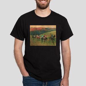 Racehorse Training by Edgar Degas T-Shirt