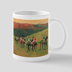 Racehorse Training by Edgar Degas Mugs