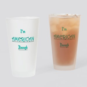 American Enough tee Drinking Glass