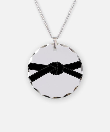 Black Belt Necklace