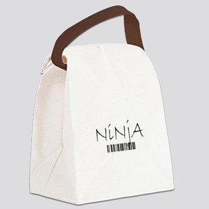 Ninja Barcode Canvas Lunch Bag