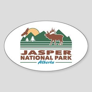 Jasper National Park Sticker (Oval)