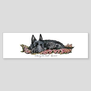 Scottie Slumber Bumper Sticker