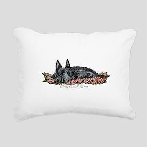 Scottie Slumber Rectangular Canvas Pillow