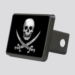 Glassy Skull and Cross Swo Rectangular Hitch Cover