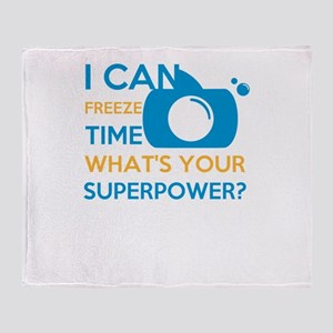 i can free time, what's your sup Throw Blanket