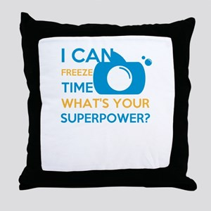 i can free time, what's your supe Throw Pillow