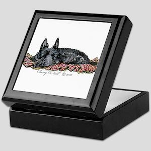 Scottish Terrier Slumber Keepsake Box