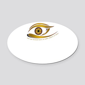 The eye should learn to listen bef Oval Car Magnet