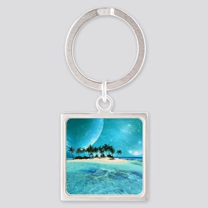 Wonderful tropical island with moons Keychains