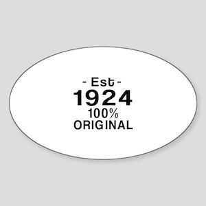 Est.Since 1924 Sticker (Oval)