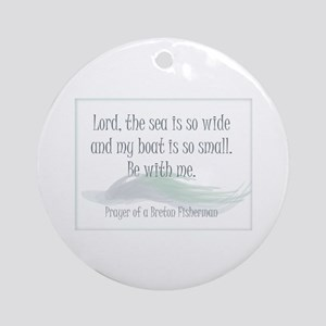 Breton Fisherman Prayer Ornament (Round)