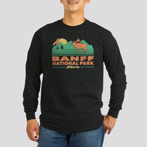 Banff National Park Alber Long Sleeve Dark T-Shirt