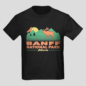 Banff National Park Alberta Kids Dark T-Shirt