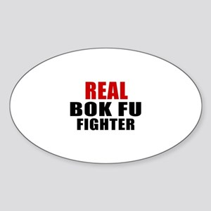 Real Bok fu Fighter Sticker (Oval)