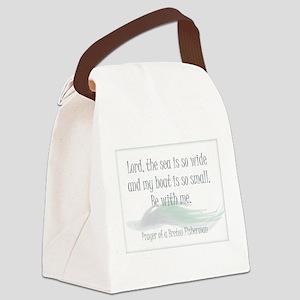 Breton Fisherman Prayer Canvas Lunch Bag