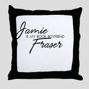 Jamie Fraser Book Boyfriend Throw Pillow