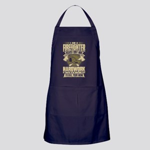 Firefighter T Shirt Apron (dark)
