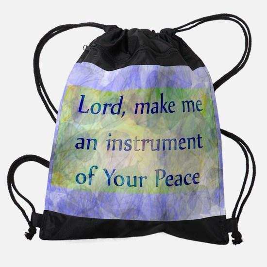 Prayer of St. Francis Drawstring Bag