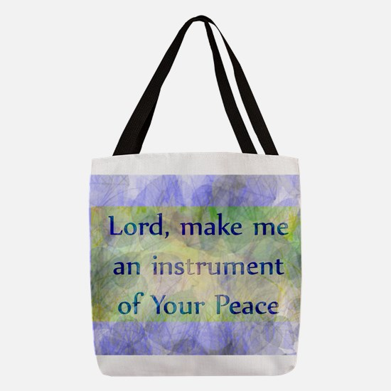 Prayer of St. Francis Polyester Tote Bag