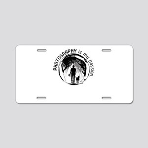 photography is my passion Aluminum License Plate