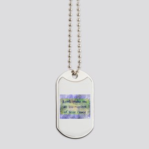 Prayer of St. Francis Dog Tags