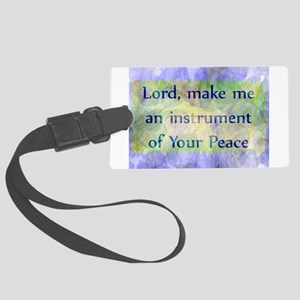 Prayer of St. Francis Large Luggage Tag